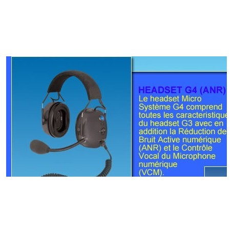 lynx headset G4 ANR  Micro systeme