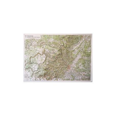 Carte Cevennes IGN en relief 81 x 114